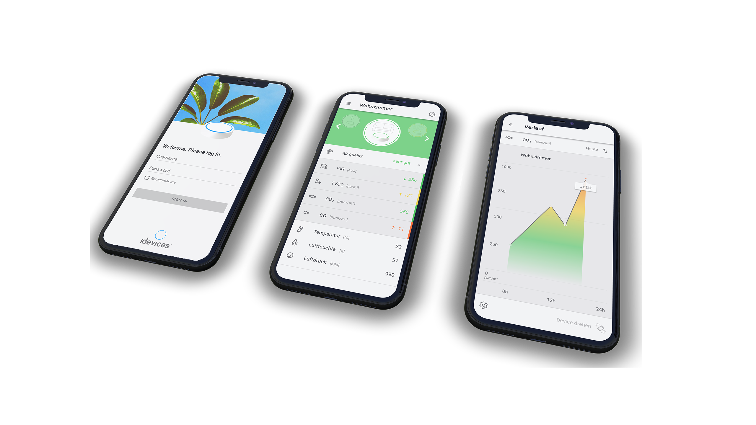UI Design for iDevices monitoring app