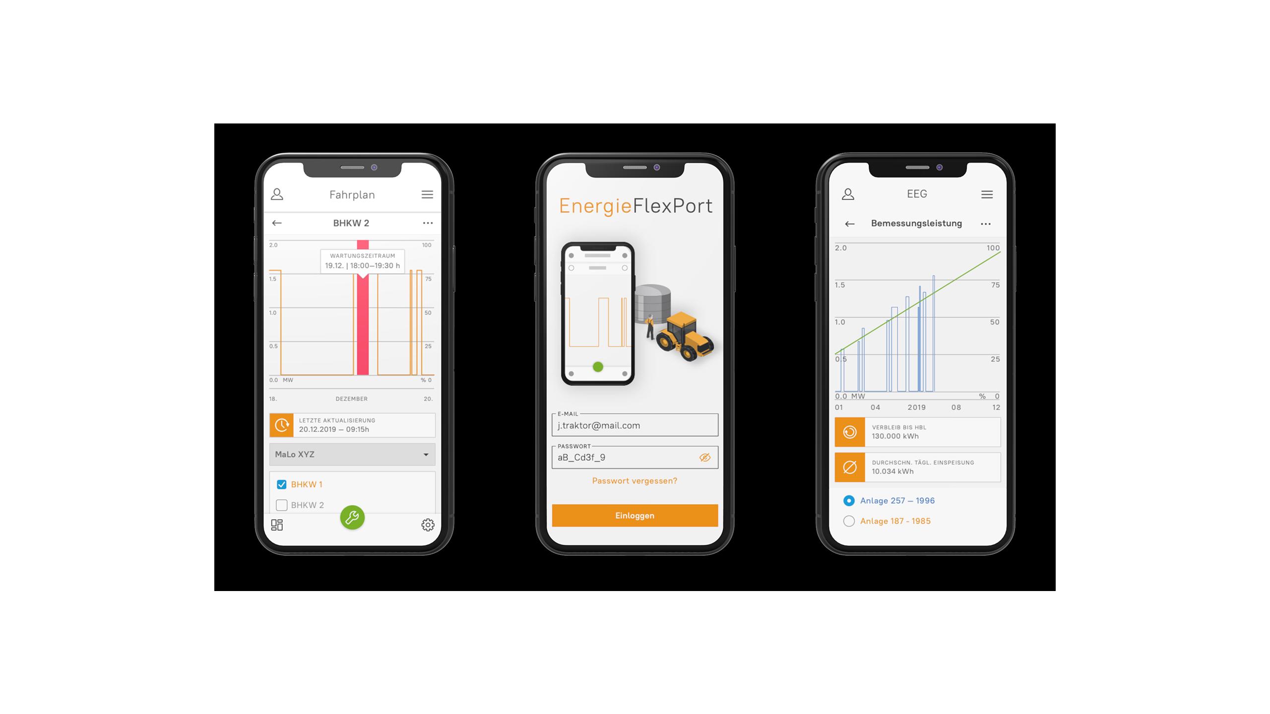 UI design of the Energy FlexPort